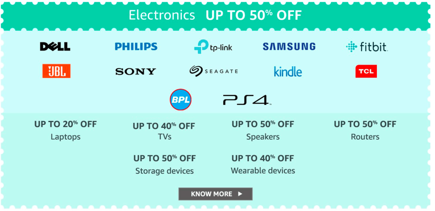 Amazon Great Indian Sale Offers : 21st to 24th January 2019 1