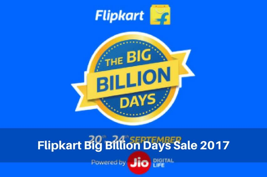 Flipkart big billion days sale 2017