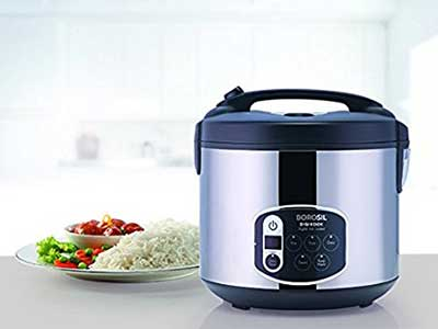 BOROSIL-BRC18LDSS11-1.8 Top 10 Best Selling Electric Rice Cookers in India