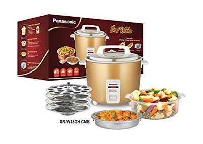 Panasonic-Srwa18ghcmb-Rice-Cooker-Combo-Pack Top 10 Best Selling Electric Rice Cookers in India