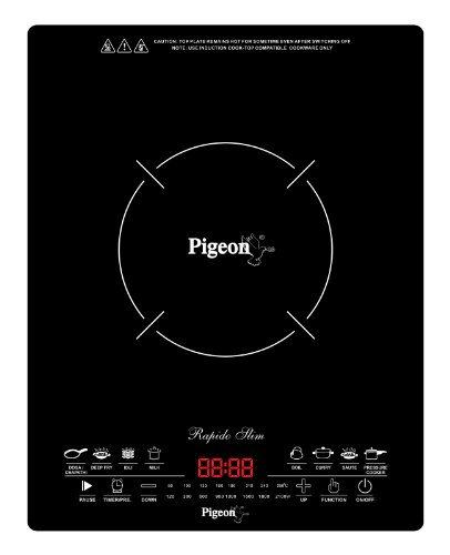 Pigeon Rapido Slim 2100-Watt Induction Cooktop with Feather Touch