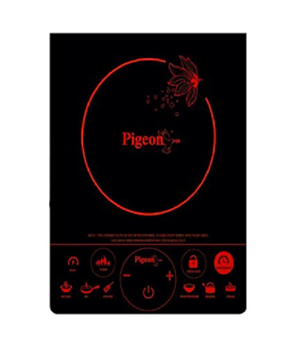 Pigeon Rapido Touch DX 2100-Watt Stainless Steel Induction Cooktop (Black)