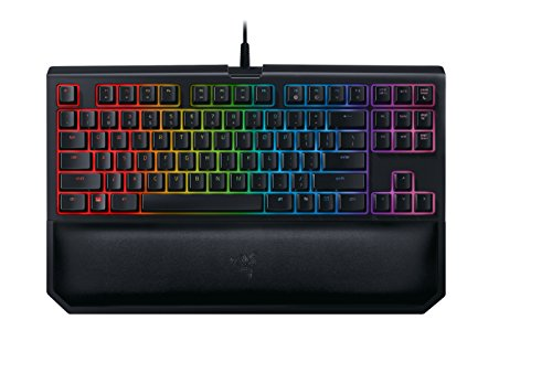 Razer BlackWidow Tournament Edition Chroma V2 - RGB Ergonomic Mechanical Gaming Keyboard - Tactile & Clicky Razer Green Switches