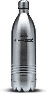 Milton Thermosteel Duo Deluxe, 1 Liters, Steel Plain