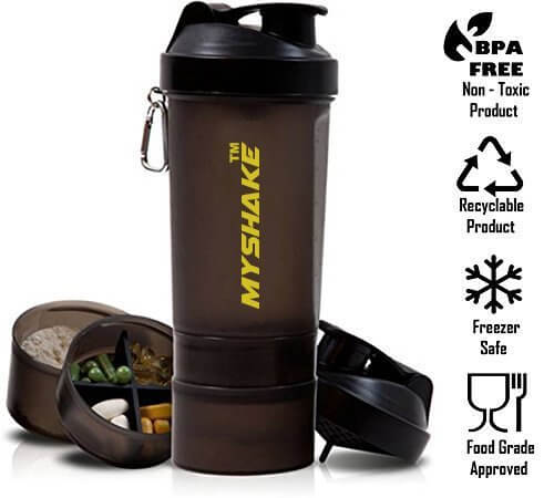 Myshake 16009 Smart Protein Plastic Shaker Bottle