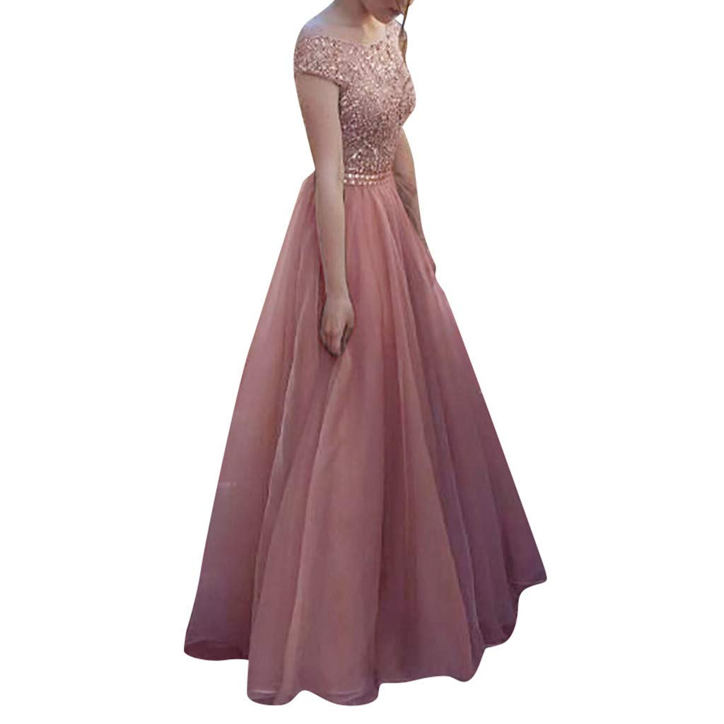 Women's Pink Party Wear Gown