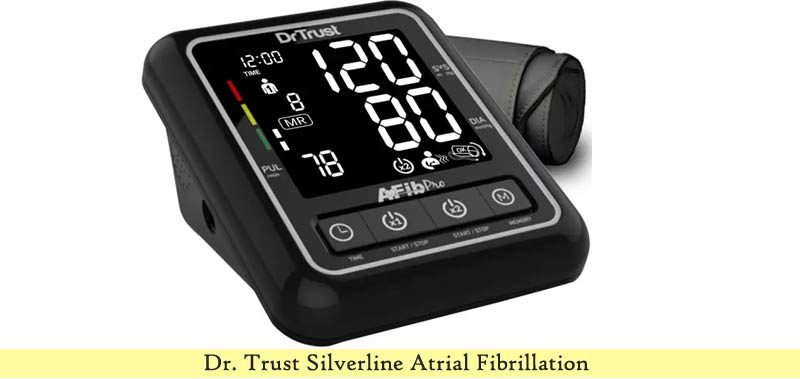 Dr. Trust Silverline Atrial Fibrillation Automatic Digital Bp Monitor Machine