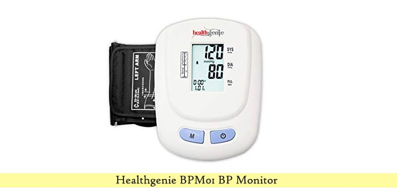 Healthgenie BPM01W Digital Upper Arm BP Monitor
